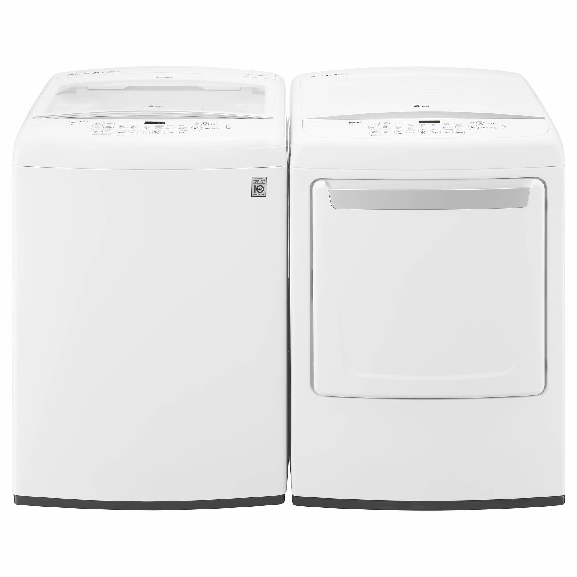 LG Top-Load TurboWash Washer and Sensor Dry Electric Dryer - White
