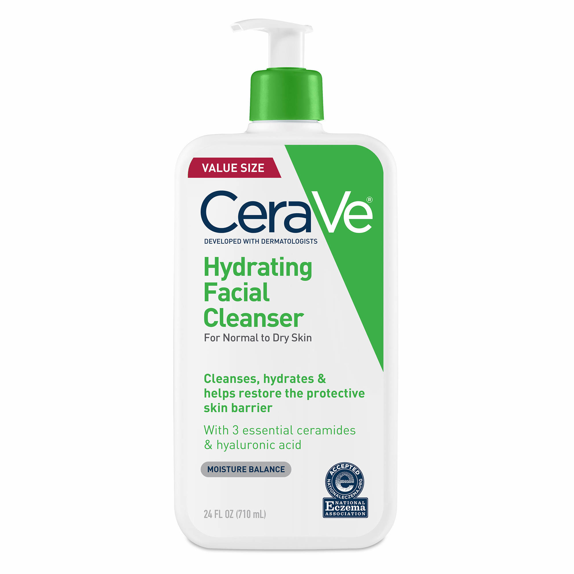 Cerave Hydrating Facial Cleanser, 24 oz.