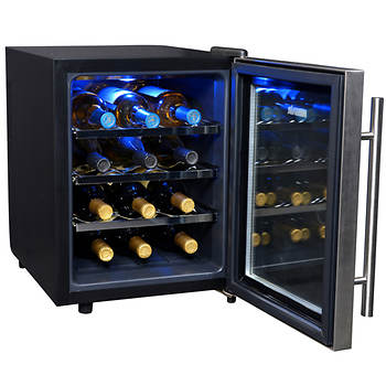 newair 12 bottle thermoelectric wine cooler bj 39 s wholesale club. Black Bedroom Furniture Sets. Home Design Ideas