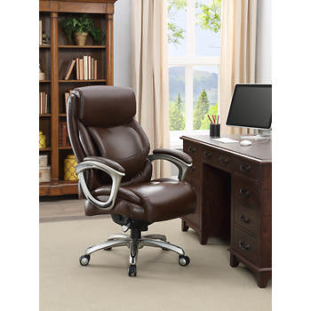 la z boy big and tall bonded leather executive chair brown bj 39 s wholesale club. Black Bedroom Furniture Sets. Home Design Ideas