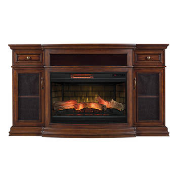 chimney free tv stand for tvs up to 70 with infrared quartz electric fireplace coventry. Black Bedroom Furniture Sets. Home Design Ideas