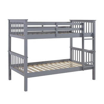 W Trends Twin Size Solid Wood Mission Bunk Bed