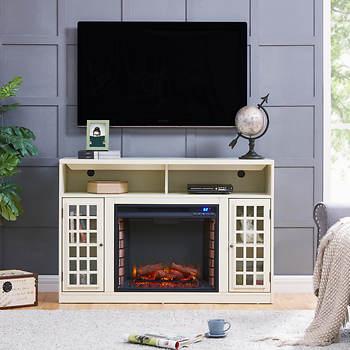 SEI Morita Media Console Electric Fireplace - White - BJ\'s ...