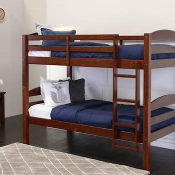 W Trends Twin Size Solid Wood Bunk Bed