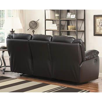 Abbyson Living Cayman Pc Italian Leather Reclining Living Room