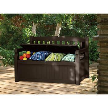 Keter Eden 70 Gal Storage Bench Deck Box Item 723793 Model 213126