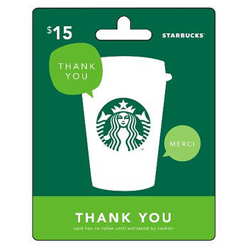15 starbucks gift card thank you bjs wholesale club 15 starbucks gift card thank you item 724963 model 724963 negle Images