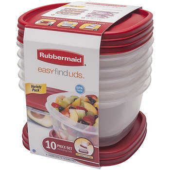 Rubbermaid 10-Pc. Easy Find Lids Food Storage Containers - BJ\'s ...