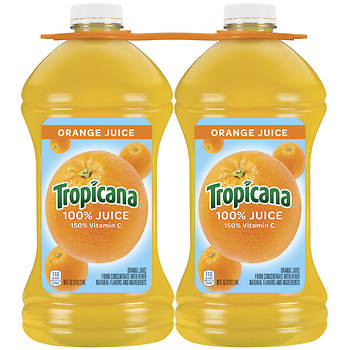 Juice bjs wholesale club tropicana 100 orange juice 2 pk96 fl oz malvernweather Image collections