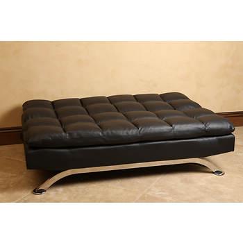 Abbyson living madison bonded leather euro lounger sofa for Sofa 99 euro