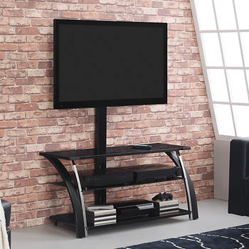 morganville the patriot triple play 55 tv stand black. Black Bedroom Furniture Sets. Home Design Ideas