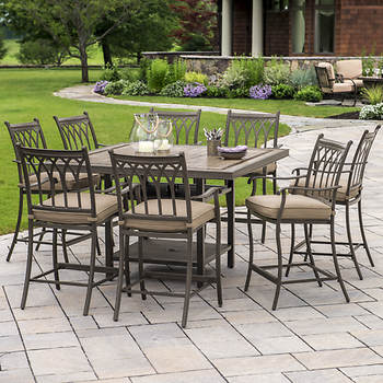 Berkley Jensen Rockport 9 Pc High Top Tile Dining Set Item 36081 Model Aal04609 9c