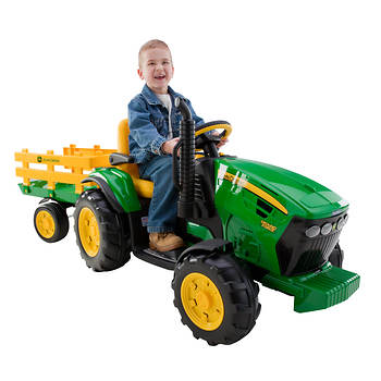 peg perego john deere ground force tractor with stake side. Black Bedroom Furniture Sets. Home Design Ideas