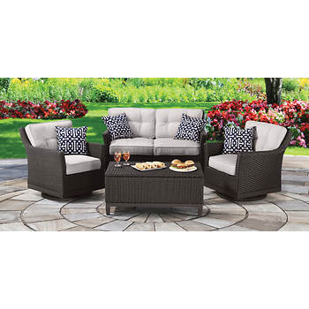 Outdoor Patio Furniture Patio Sets Berkley Jensen Antigua 4 Pc Wicker Deep Seating Set Item 36085 Model L Dn1580sco C