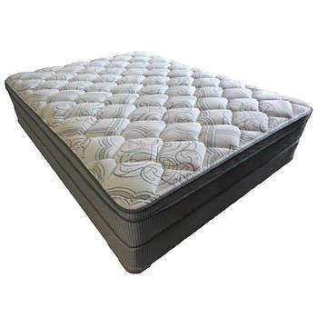 Berkley Jensen Queen Size Euro Pillowtop Mattress Set Item 54215 Model 7330