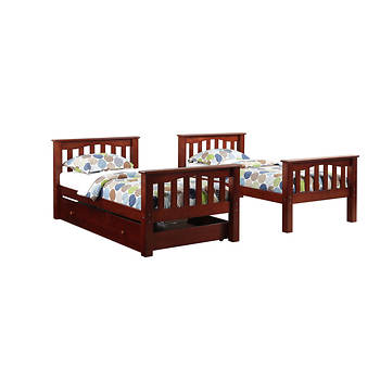 Berkley Jensen Twin Size Bunk Bed With Trundle Item 729011