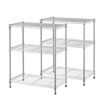 Next. Home Storage Space 3 Shelf Wire Rack  2 pk    Chrome   BJ s
