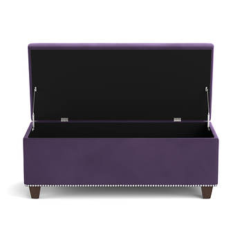 Handy living storage ottoman bench purple velvet bj 39 s wholesale club Purple storage bench