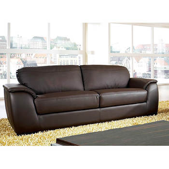 Abbyson Living Avalon Pc Leather Living Room Set Dark Brown