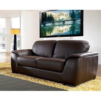 Abbyson Living Avalon 2-Pc. Leather Living Room Set - Dark Brown ...