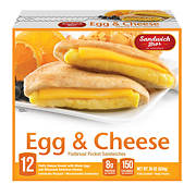 Sandwich Bros. Egg & Cheese Sandwich, 12 ct.