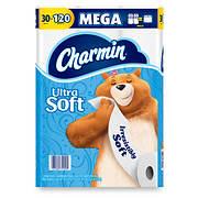 Charmin Ultra Soft Mega Roll Toilet Paper, 30 ct.