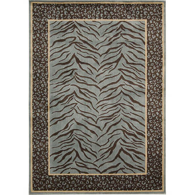 Woolen Touch 8' x 10' Rug - Aqua/Animal Print
