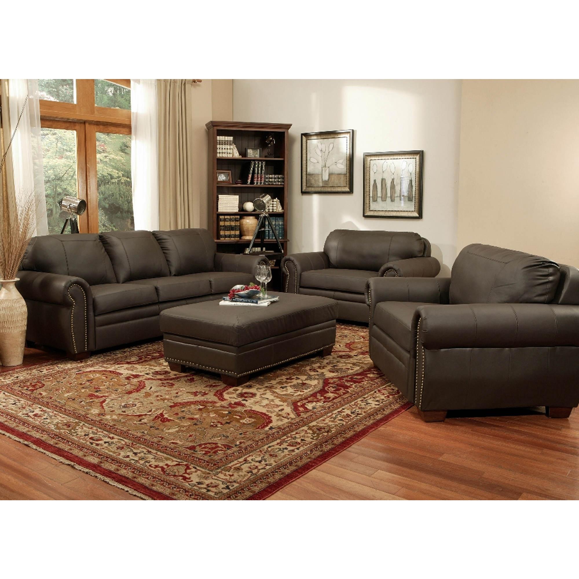Abbyson Living Brownstone Leather 4 Pc Furniture Set Dark Brown Bj 39 S Wholesale Club