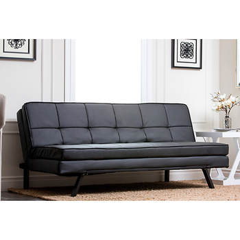 Abbyson Living Avalon Convertible Sofa - Black