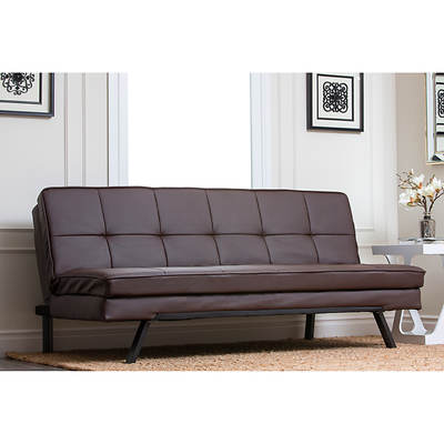 Abbyson Living Avalon Convertible Sofa - Dark Brown