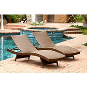 Abbyson Living Alesso Outdoor Chaise, 2 pk. - Brown