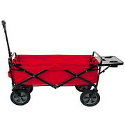Berkley Jensen Folding Lawn Wagon with Tray - Red