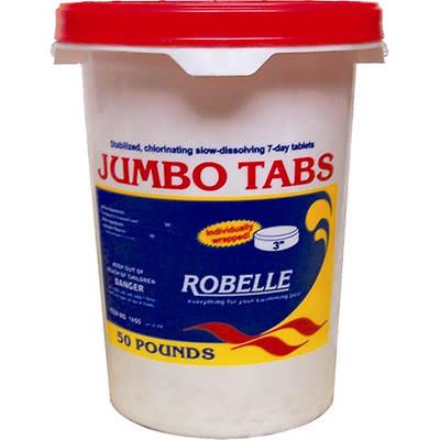 "Robelle 3"" Jumbo Chlorine Tabs - 50 lb."