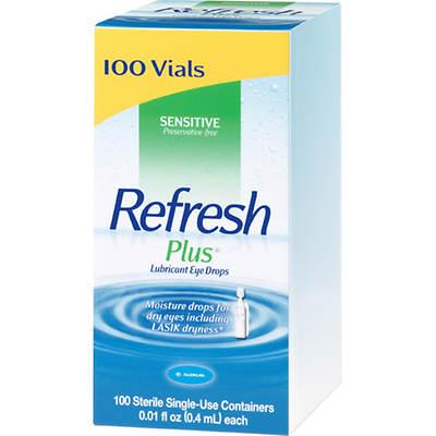 Refresh Plus Eye Drops - 0.01 Fl. Oz., 100 Count