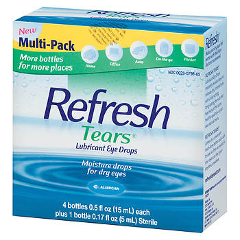 Refresh Tears Lubricant Eye Drops Multipack with 0.17 Fl. Oz. Sterile Drops Bottle, 0.5 Fl. Oz., 4 Count