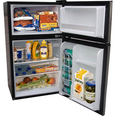 Haier 3.3-Cu. Ft. Compact Refrigerator/Freezer - Virtual Steel