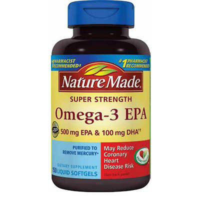 Nature Made Super Strength Omega-3 EPA Liquid Softgels - 150 Count