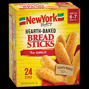 New York Bakery Hearth-Baked Breadsticks with Real Garlic, 24 ct.