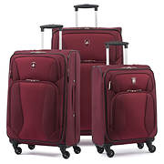 Atlantic 3-Pc. Expandable Spinner Luggage Set - Burgundy