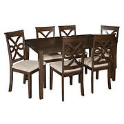 Powell Leighton 7-Pc. Dining Set - Dark Smoked Espresso