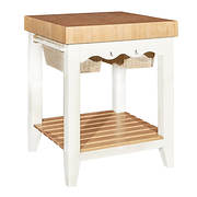 Powell Kitchen Island with Accessory Kit - White