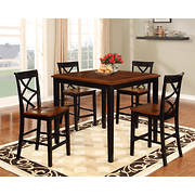 Powell Harrison 5-Pc. Counter-Height Dining Set - Black/Cherry