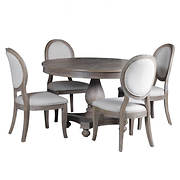 Powell Lenoir 5-Pc. Dining Set - Wire-Brushed Oak