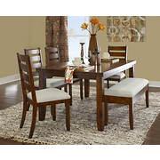 Powell Gavin 6-Pc. Wood Dining Set - Rustic Walnut