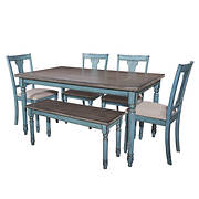 Powell Willow 6-Pc. Dining Set - Teal