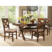 Powell Kraven 5-Pc. Acacia Dining Set - Dark Hazelnut