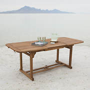 W. Trends Acacia Wood Patio Butterfly Table - Brown