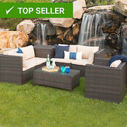 W. Trends 7-Pc. Modern Rattan Chat Group - Brown