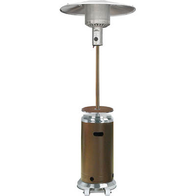 Gardensun Outdoor Propane Patio Heater - Hammered Gold/Stainless Steel