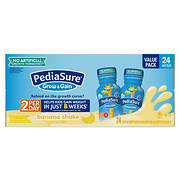 PediaSure Grow & Gain Banana Nutrition Shake, 24 ct./8 fl. oz.